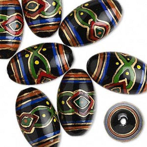 0200066/Černá oliva ručně malovaná