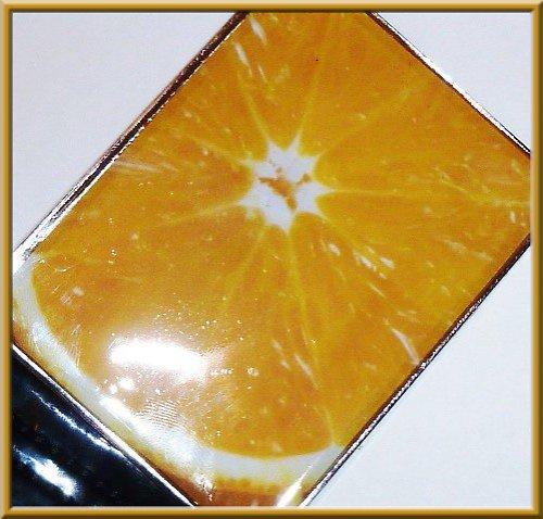 Pásek se sponou z pryskyřice - pomeranč
