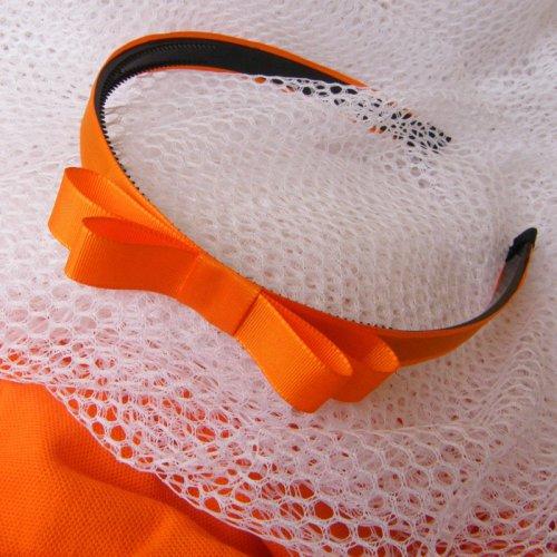 Oranžová čelenka s mašlí