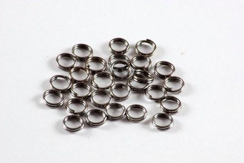 Kroužek dvojitý 5 mm 100 kusů antracit