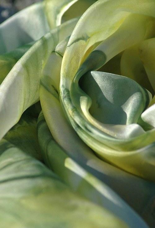 Limetka a citron... hedvábný šátek