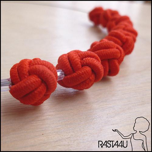 Náhrdelník - červené kuličky