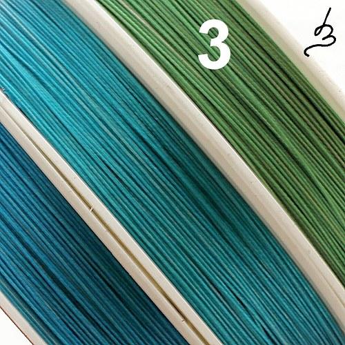 Ocelové lanko zelené 0,45