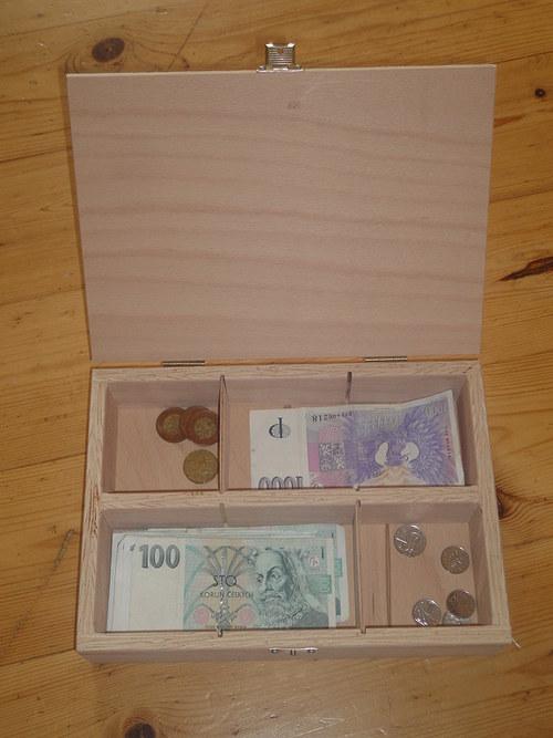 Krabička na peníze - přírodní k dozdobení