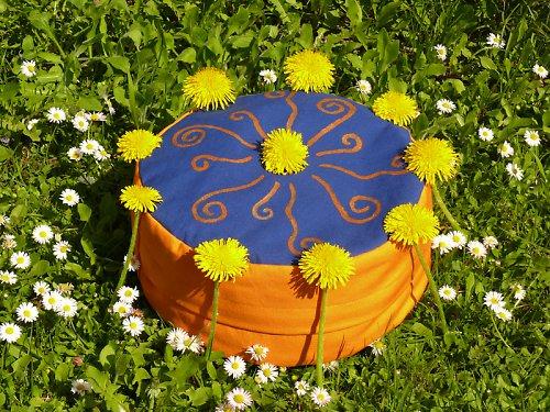 Meditační sedák Rozkvetlé sluníčko, zafu