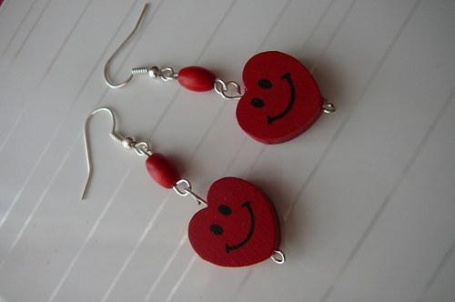 Veselá srdíčka-červené