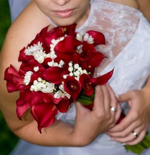 Svatební  - bordó