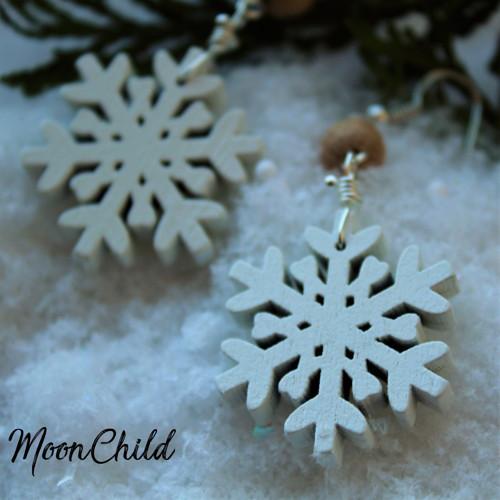 Snowflake Natural - náušnice
