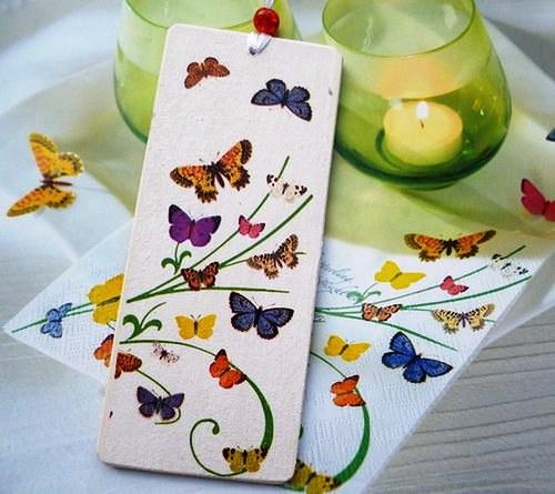 dřevěná záložka - motýlková