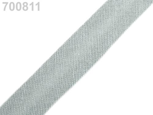 Šikmý proužek 14 mm zažehlený (5m) - Desert Sage