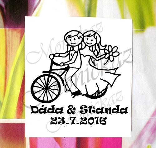 Svatební na kole č. 1.