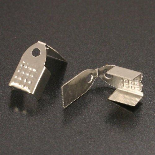 Koncovka stříbrná, 8,5×4,5 mm 10 ks