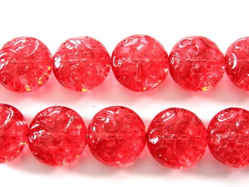 0300931/Placička s ornamentem červená, 6 ks