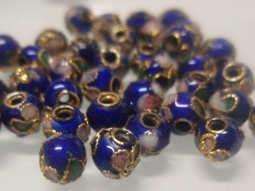21700-B15 Cloisonne kulička - modrá 5mm bal. 5ks