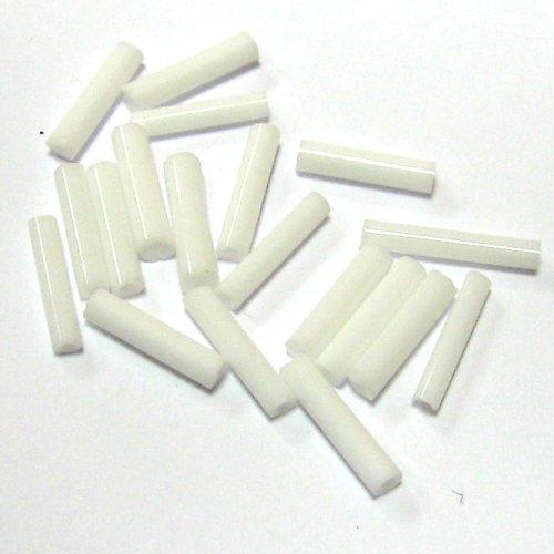 Trubky - sněhově bílé - 9 mm