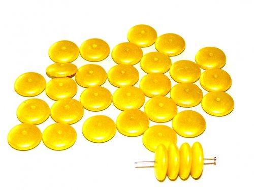 Korálky žluté vel.12mm, 10ks