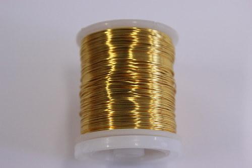Měděný drátek 0,8mm - písková měď, návin 8,5-9m