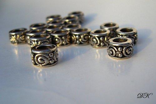 korálky -kovové - 10 ks