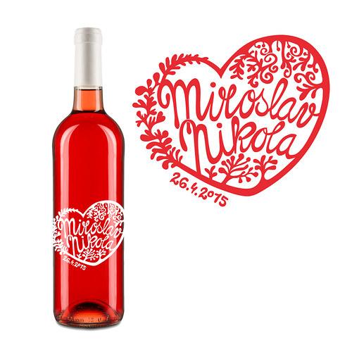 Svatební víno (samolepící etiketa 20ks)