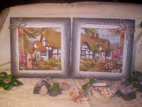 Pohádkový domeček - dvojice obrázků