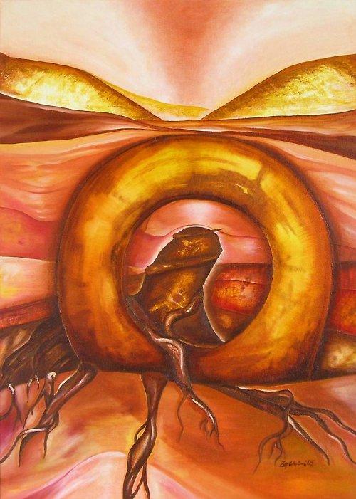 Olejomalba na plátně: krajina života