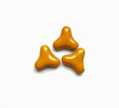 Korálky mačkané, 15 mm - 2 kusy