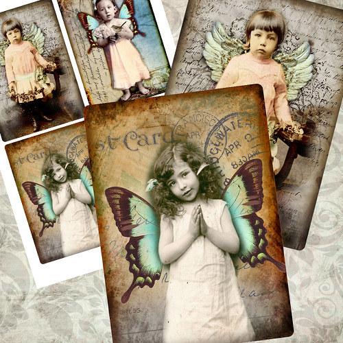 Nažehlovací obrázky- Angel - 4 ks