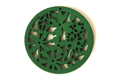 dřevěná kolečka- středně zelená