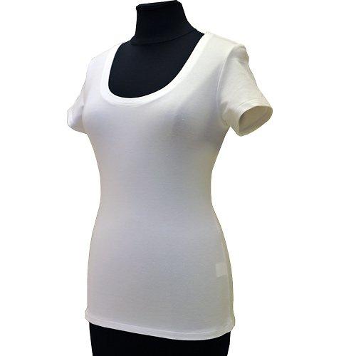 Bílé tričko belaroma krátký rukáv, kulatý výstřih