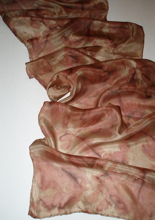 Brown Glow-hedvábná šála