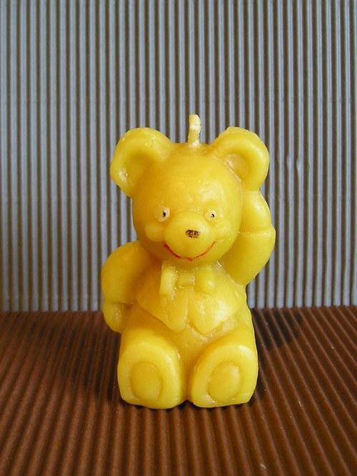 Svíčka ze včelího vosku - medvěd