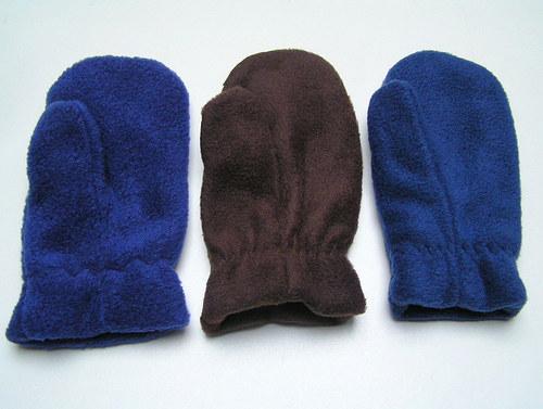 Fleecové rukavičky-vel.4