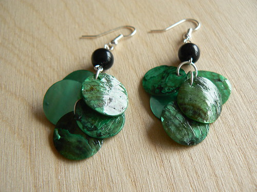 Zelené perleťové