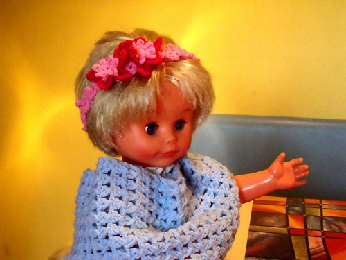 Květinková paráda - kytička růžová - dívčí čelenka