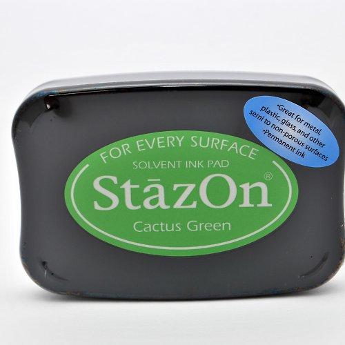 StazOn inkoustový polštářek / zelený