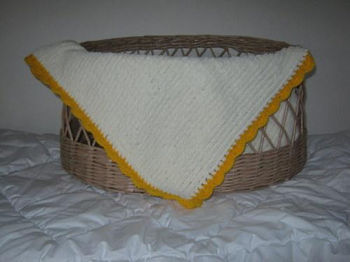 hřejivá deka - žlutá