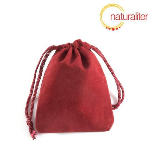 Sametový dárkový sáček červený 7x9cm