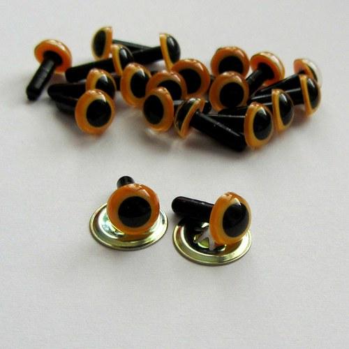 Bezpečnostní oči - oranžové (světlé)9 mm