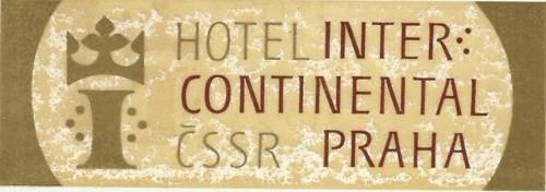 Hotelové nálepky styl Brusel Continetal Praha
