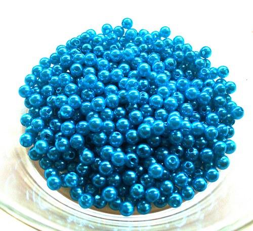 tyrkysové perličky 4mm/ 100ks