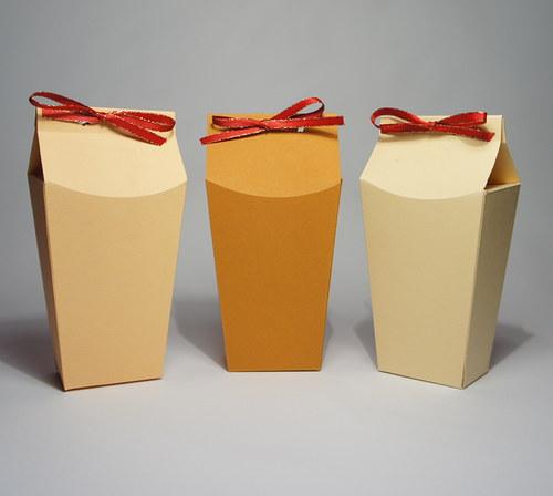 Dárkové krabičky typu A .... sada 3ks béžová