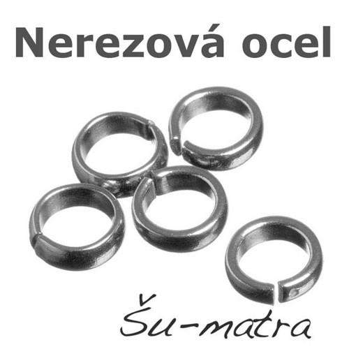 Kroužky z nerezové oceli, 8x3 mm (8 ks)