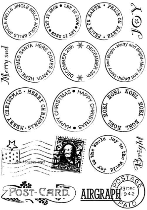 CI - 326_Cling razítko Poštovní známky 96x137 mm