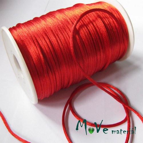 Šňůra Ø2mm saténová, červená, 1m