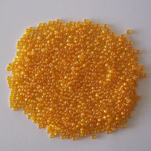 Skleněné korálky - rokajl 10/0 oranžový s listrem