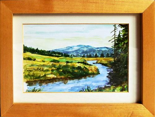 krajina akvarel