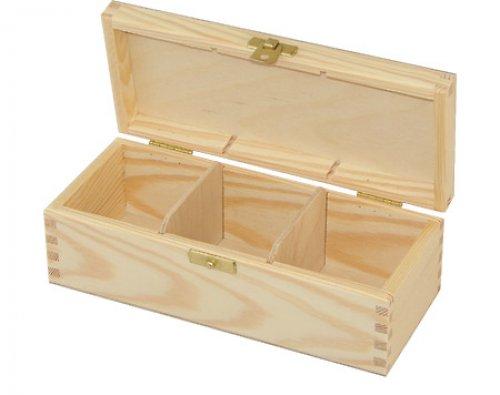 Krabička na čaj tři přihrádky DL156