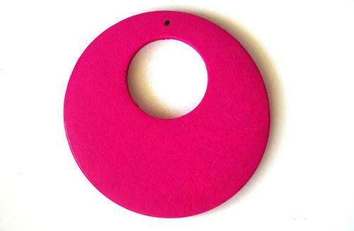 Dřevěné kolečko - tmavě růžové