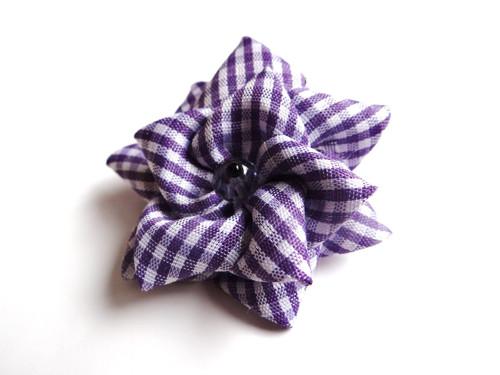 Gumička do vlasů - Květina (fialová)