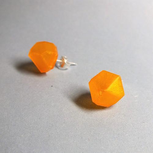 Náušnice krystal orange tr